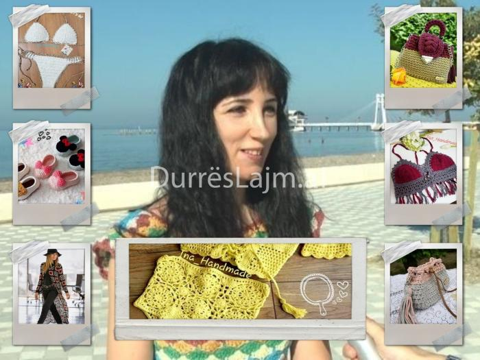 Punime unike të bëra me dorë – Ina Kasa, vajza nga Durrësi që krijon veshje e çanta me grep (VIDEO)