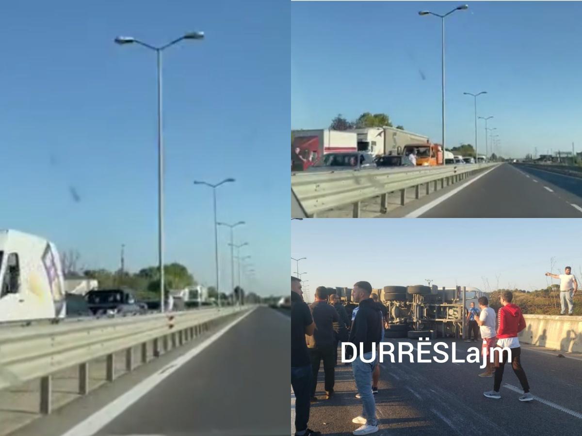Aksidenti me trajlerin, Policia: Përdorni këtë rrugë për të evituar trafikun