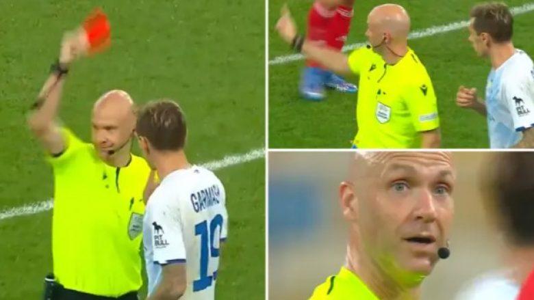 Gafa e gjyqtarit anglez në Champions! Përjashton nga loja futbollistin me vetëm një karton të verdhë, por më pas…