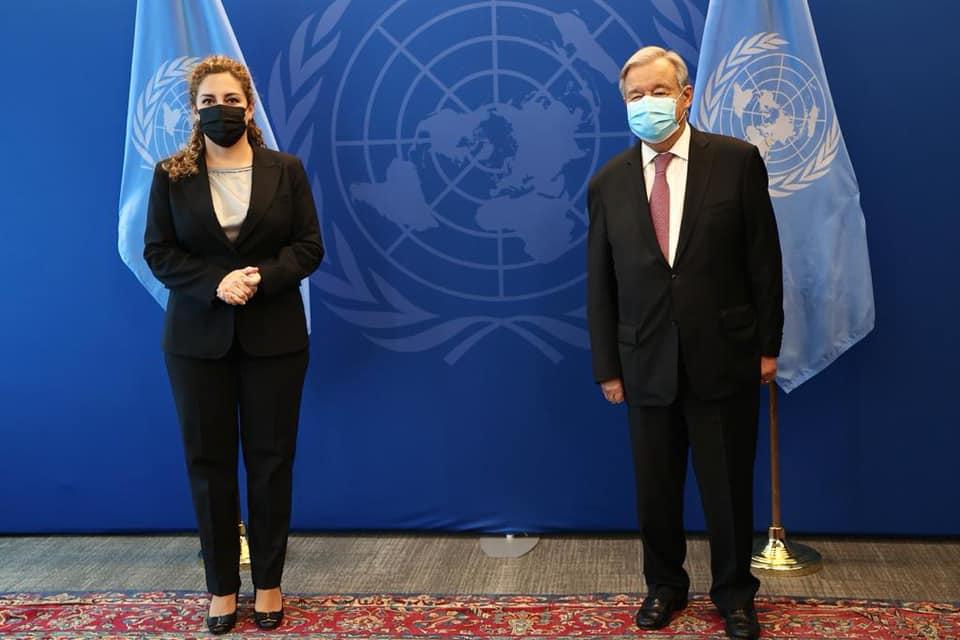Ministrja Xhaçka takon Sekretarin e Përgjithshëm të OKB-së: Ndajmë të njëjtën pikëpamje