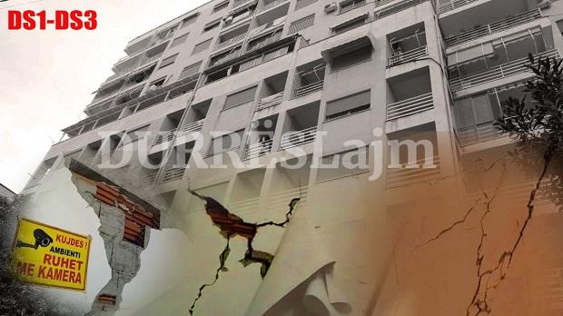 Bashkia e Durrësit harron pallatet me dëme DS1-DS3, shumë prej tyre u përngjajnë godinave të bombarduara (VIDEO)