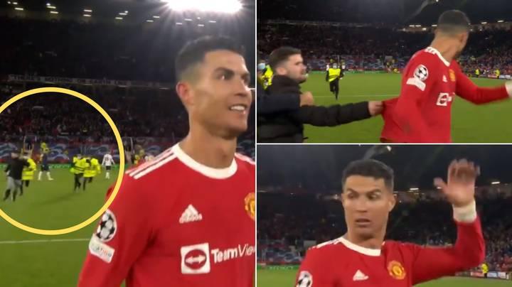 """Sigurimi ndalon tifozin e """"çmendur"""" që tentoi t'i merrte bluzën Ronaldos"""